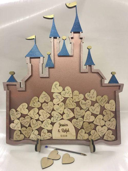 Libro de firmas boda marco Disney