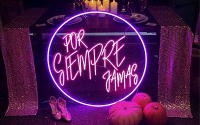 Letras con luz, propuestas originales para tu boda