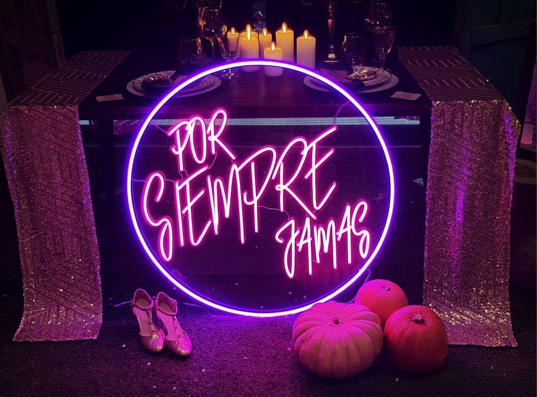 Letras boda, rotulo de neon