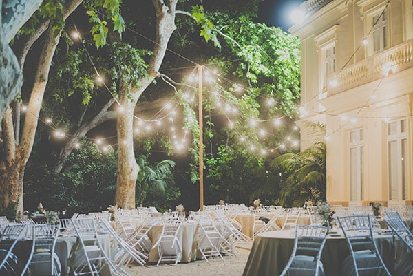 Iluminacion boda Jardín Botánica