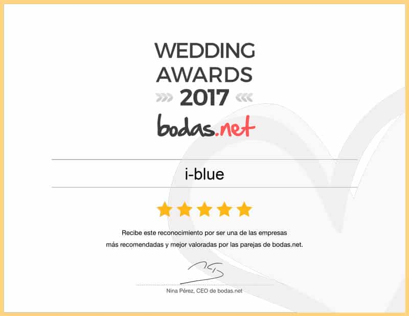 ¡I-blue ha ganado el Wedding Awards 2017!