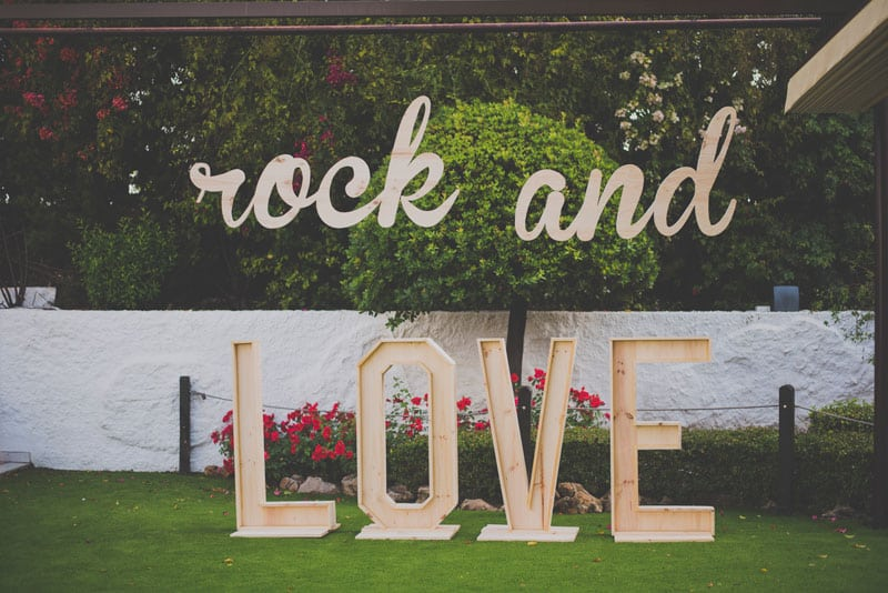 Boda rockera en hotel Cortijo Chico, Rock and Love