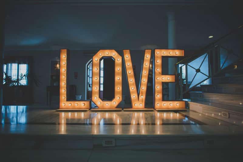 Letras boda gigantes Love