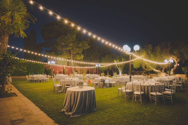 Iluminación boda Finca la Tosca, star wars