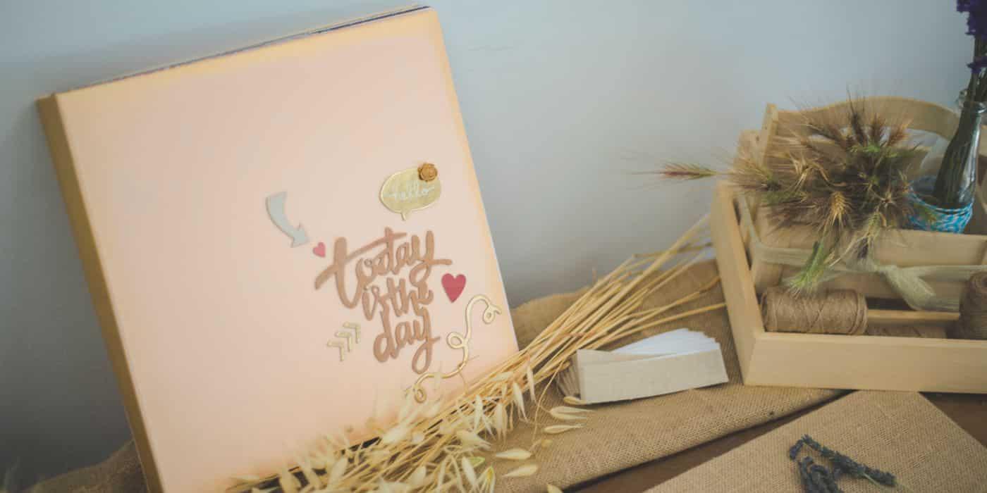 Libro de firmas para bodas rustico