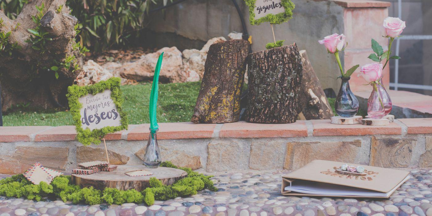 Libro de firmas para bodas entorno natural