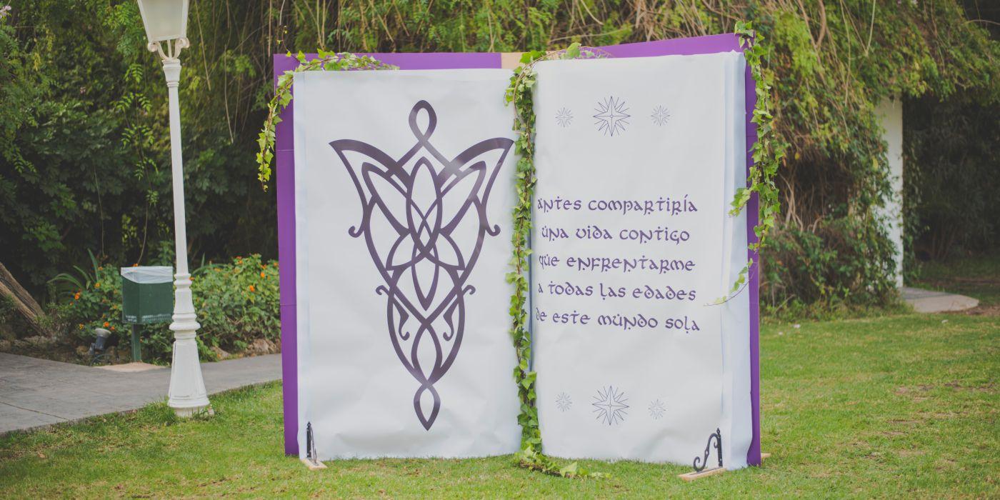 Photocall boda, señor de los anillos