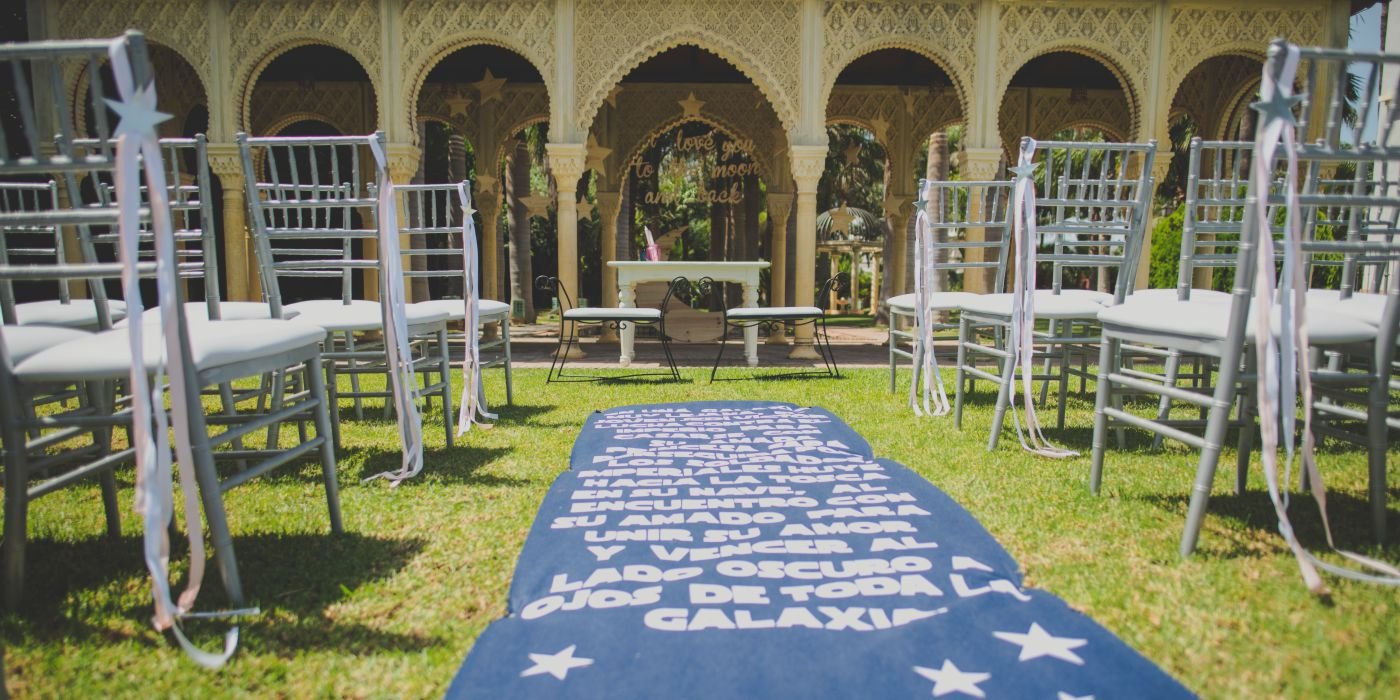 Decoración ceremonia civil, alfombra
