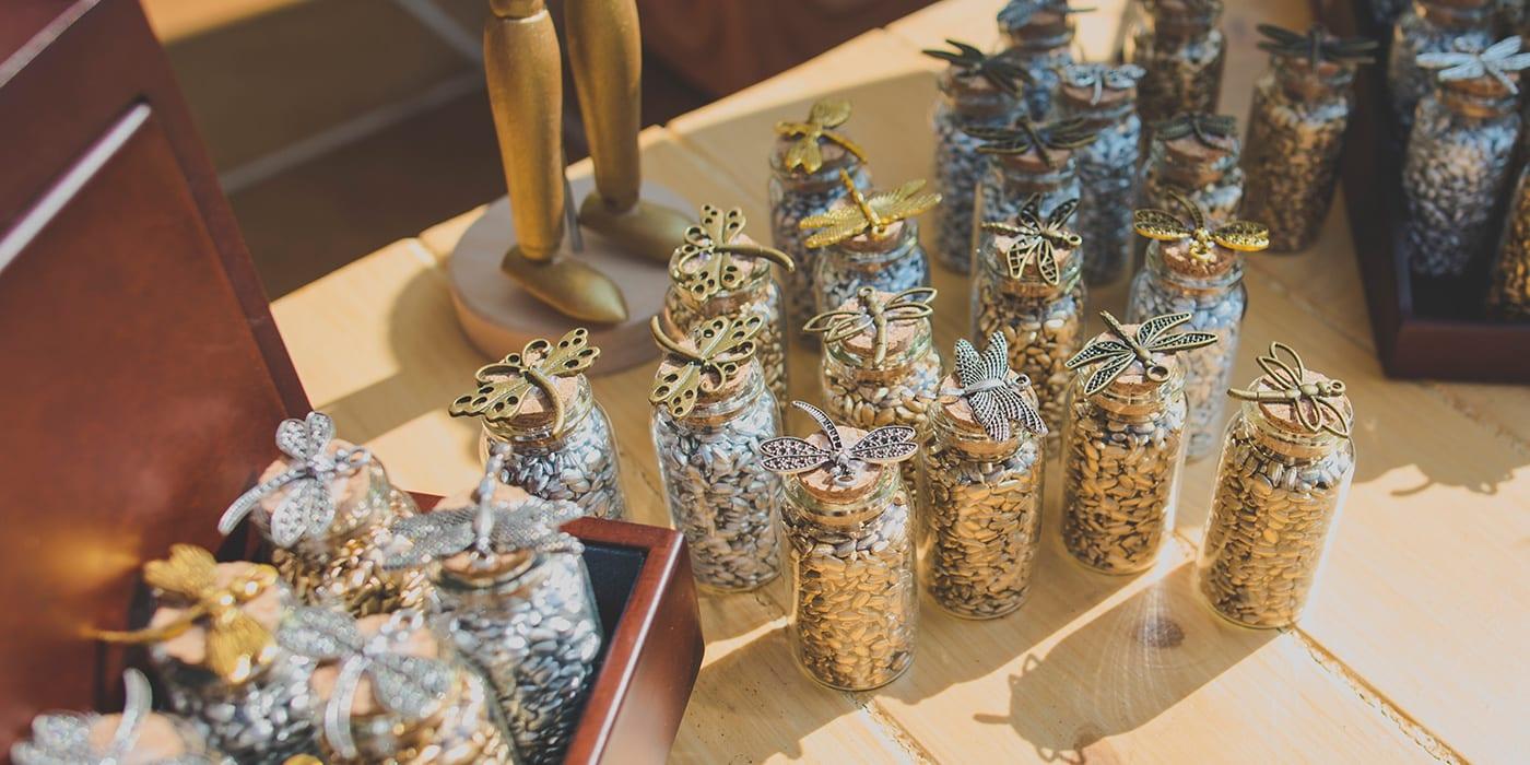 Rincones para bodas, rincón del arroz