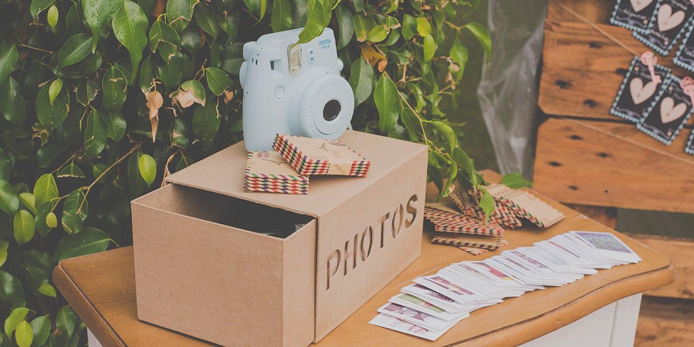 Rincones para bodas, fotos polaroid