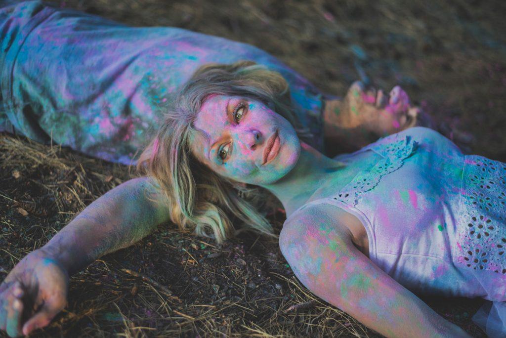 polvos de colores, humos de colores, polvos holi