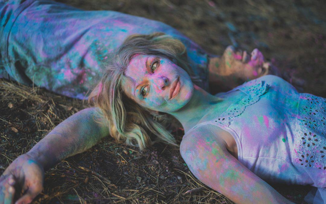 Polvos de colores para sesiones de fotos en Malaga