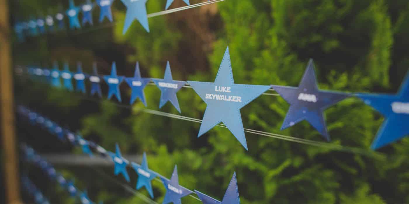 Seating bodas Málaga con estrellas