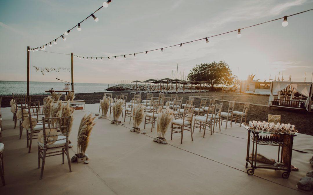 Candado Beach como sitio de bodas en Malaga