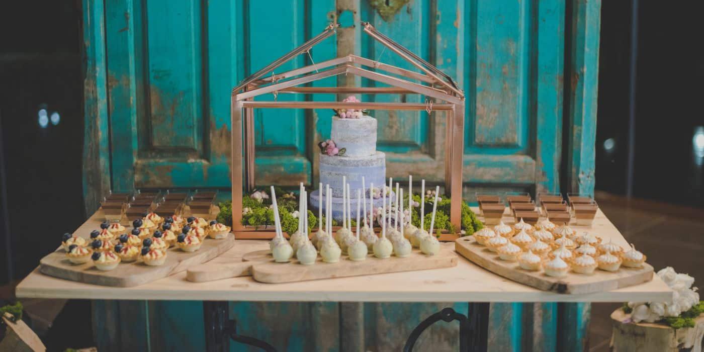 Decoración para bodas, candy bar para bodas