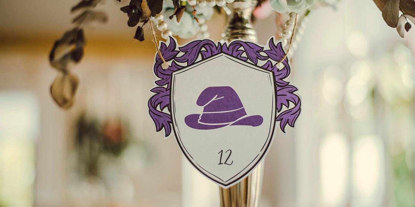 Papelería de boda mesero
