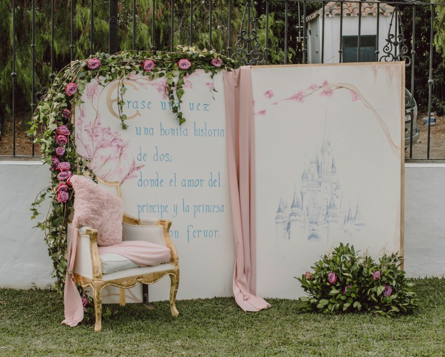 Photocall boda Disney, decoracion disney