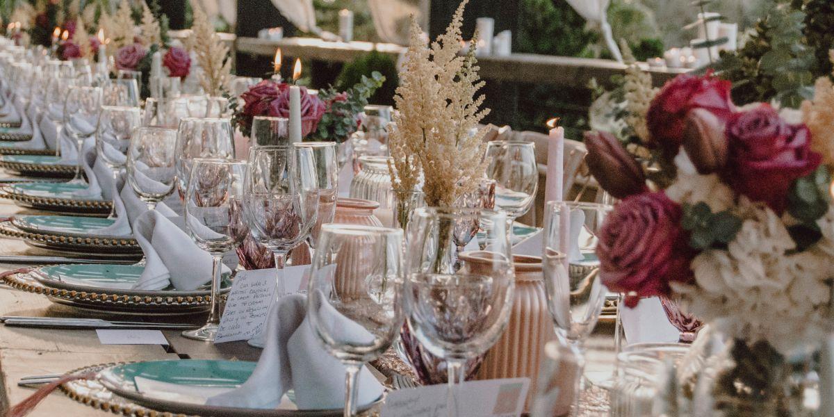 Decoracion mesas boda Málaga