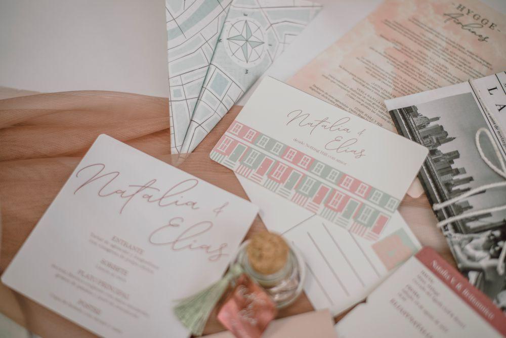 Papeleria para boda, minutas, etiquetas, dedicatorias