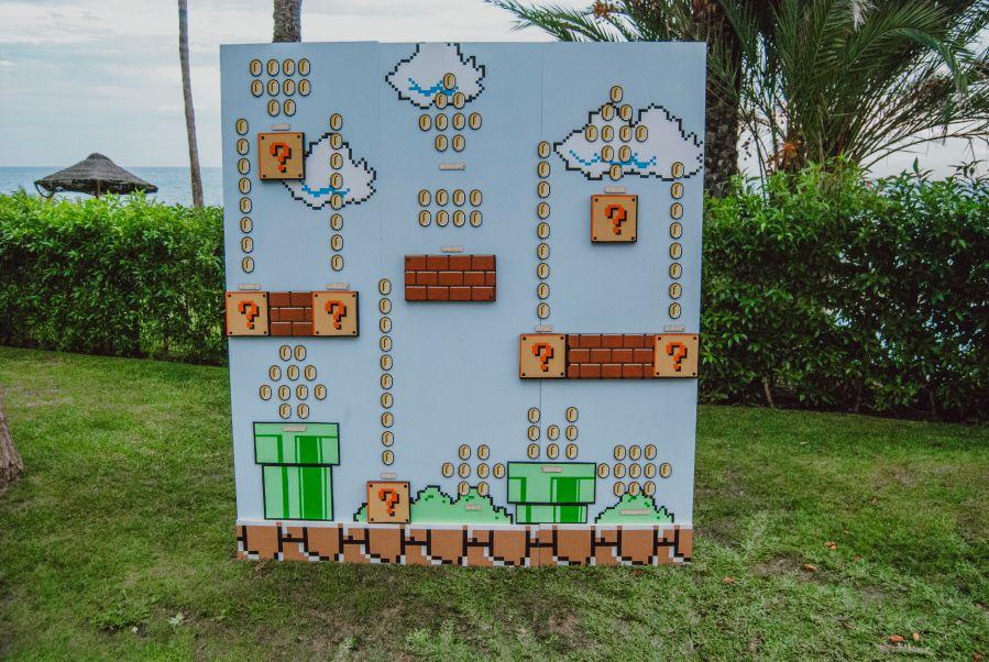 Seating plan boda inspirado en videojuegos