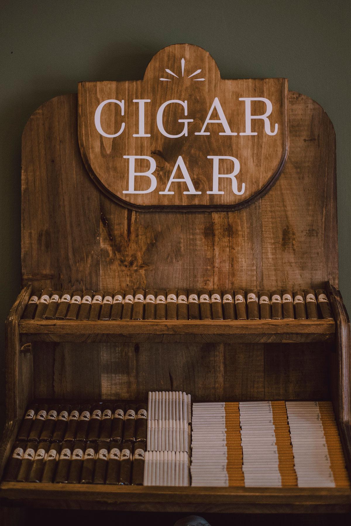 Cigar bar o rincón del fumador, decoraciones para bodas