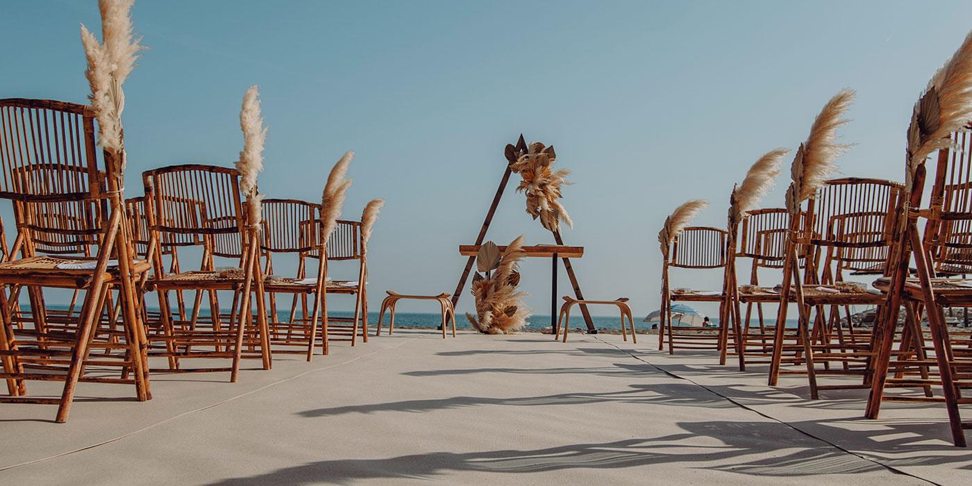 Decoración para bodas, ceremonia civil