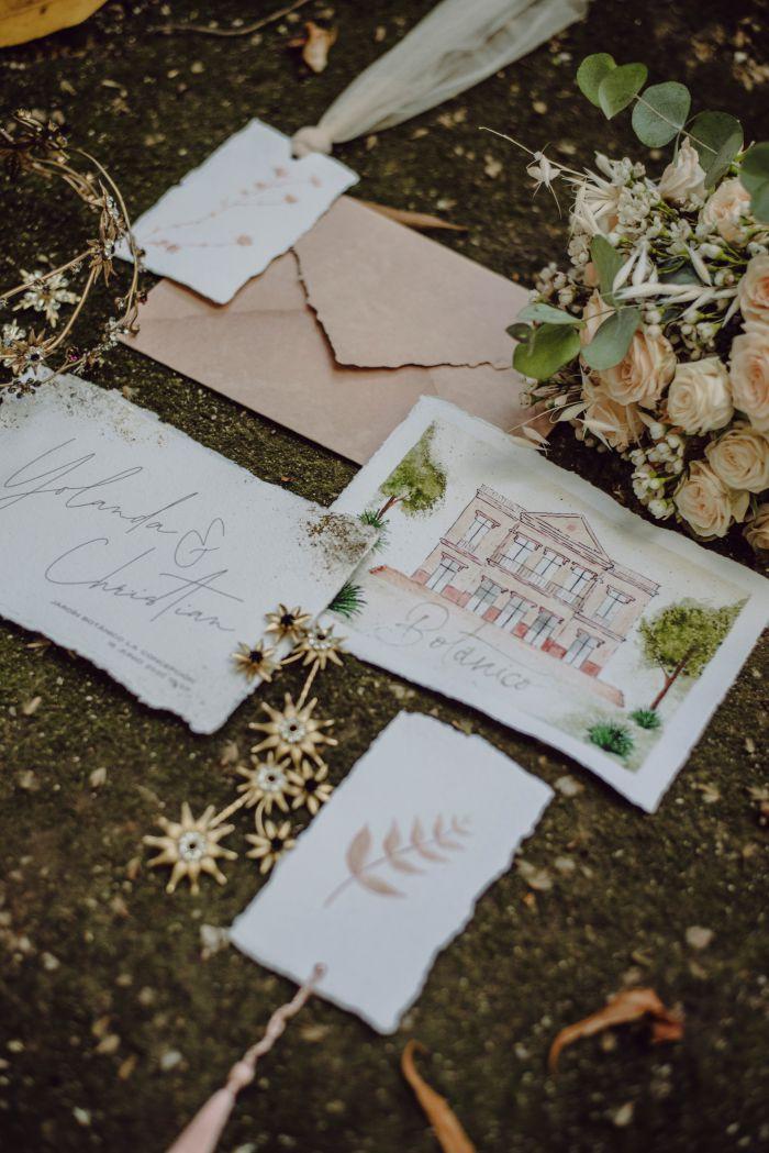 Detalles de la papeleria realizada para The Garden