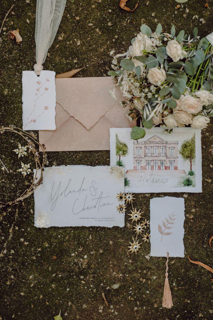 Papelería de boda The Garden, exclusivas i-blue studio