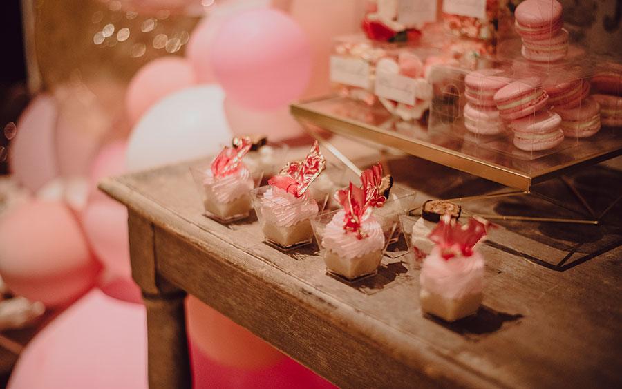 Detalle de dulces barra libre Pink Wedding