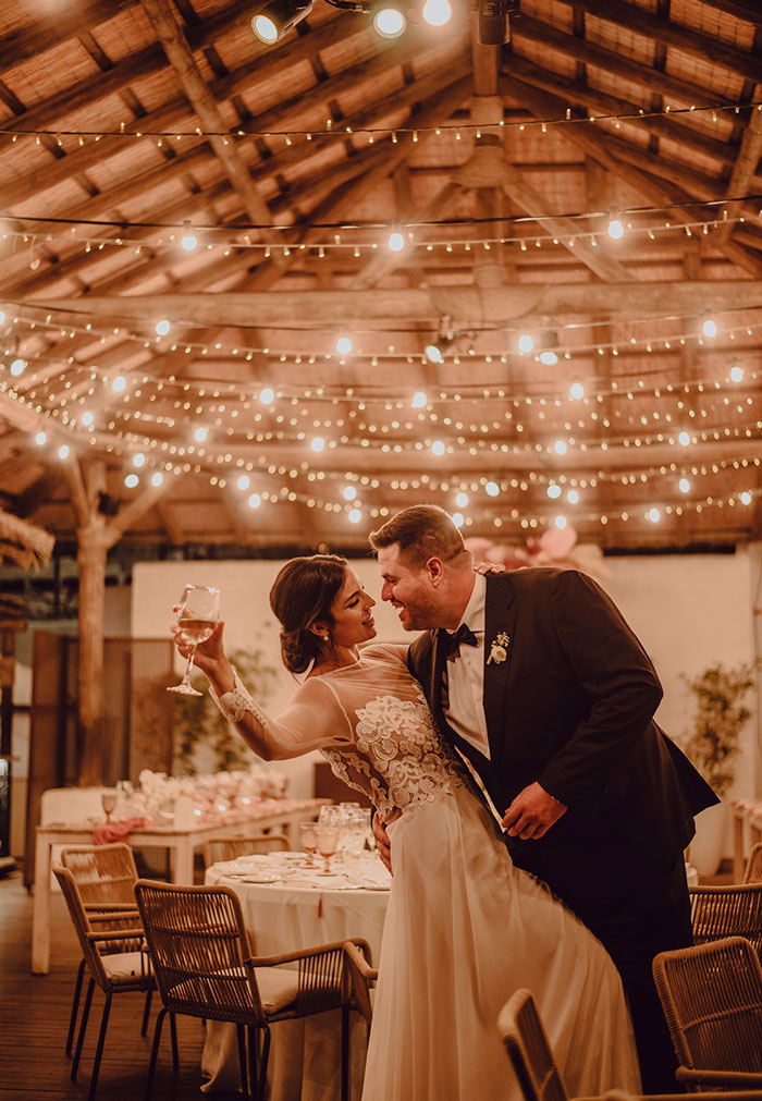 Iluminación Beautiful Pink wedding