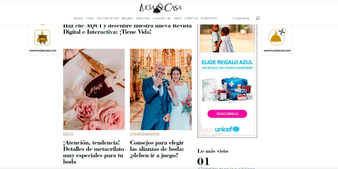 Lucia se Casa, detalles en metacrilato para bodas