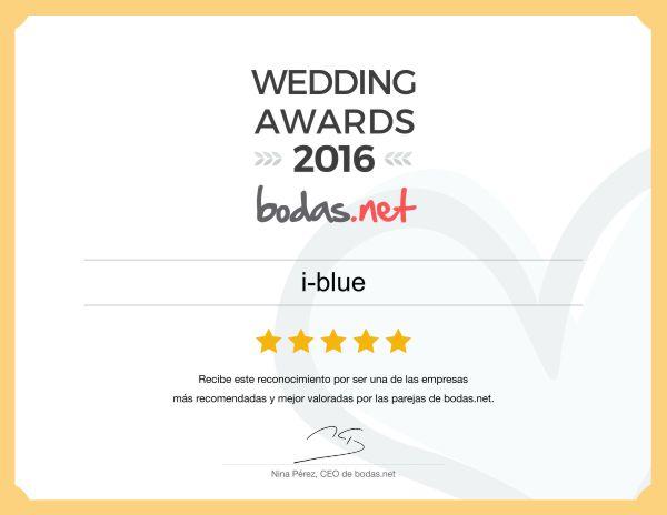 Wedding awards 2016, fografo de bodas, reportajes de boda, ideas originales iblue Malaga