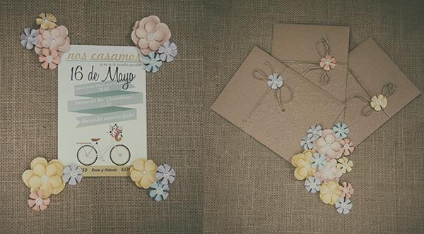 Invitaciones de boda, invitaciones para bodas con diseños personalizados y fotografías de los novios.