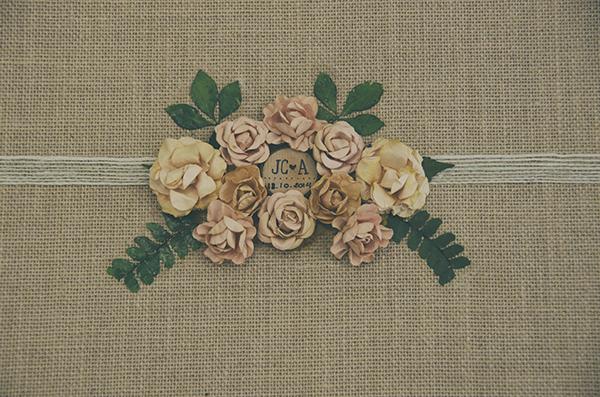 Album de boda, albumes de boda, original, vintage, retro, naturales, con flores