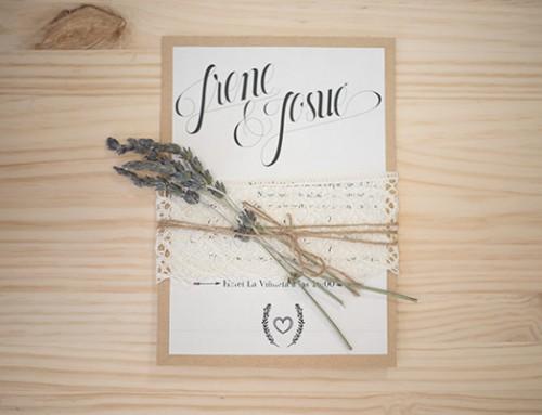Invitaciones de boda Kraft