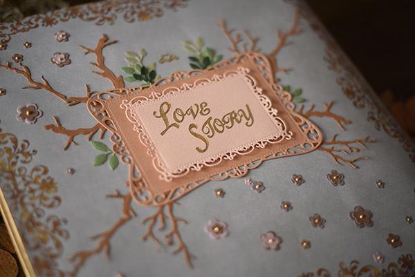 libro de firmas de cuento reportaje de boda Malaga