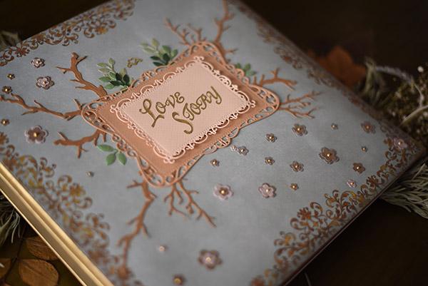 libro de firmas de cuento reportaje de boda original