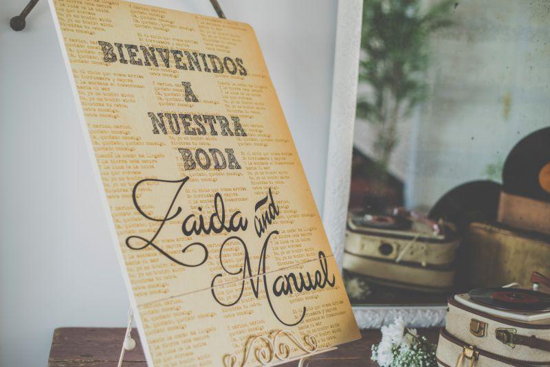 diseño grafico, diseño personalizado de carteleria para bodas