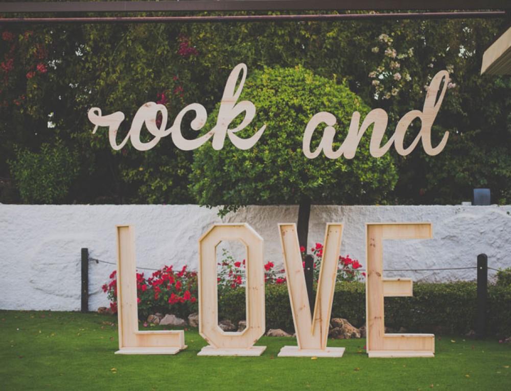 Decoracion para boda rockera, Rock and Love