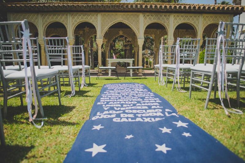 decoracion star wars, finca la tosca malaga, boda en la tosca