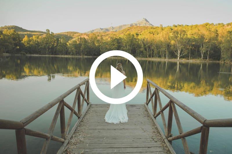 Video de postboda Malaga con drone en lago