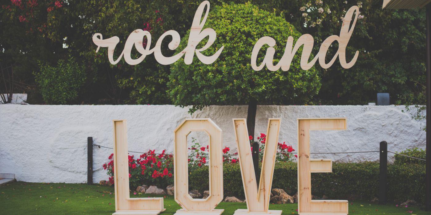 photocall boda, rockero